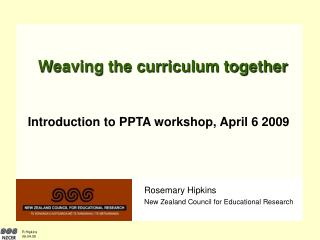 Weaving the curriculum together