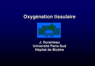 Oxyg nation tissulaire     J. Duranteau Universit  Paris-Sud H pital de Bic tre