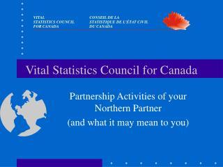 Vital Statistics Council for Canada