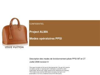 Project ALMA Modes opératoires PPSI