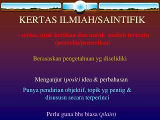 KERTAS ILMIAH/SAINTIFIK
