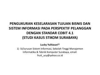 Lucky  Yulitasari 1)