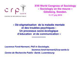 Laurence Fond-Harmant, PhD in Sociologie,  laurence.fond-harmant@crp-sante.lu