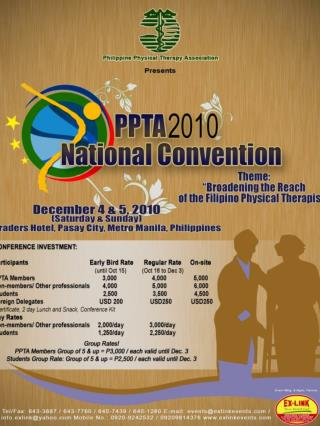 EVENT TITLE:	 PPTA 2010 National Convention