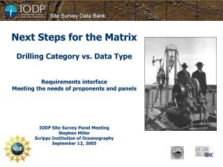 Next Steps for the Matrix Drilling Category vs. Data Type Requirements interface