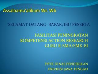 Assalaamu'alikum Wr .  Wb