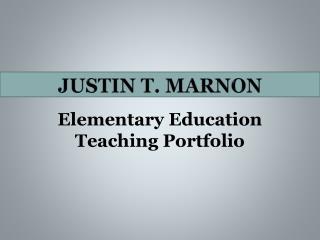 Justin t. marnon
