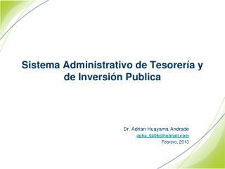 Sistema Administrativo de Tesorería y de Inversión Publica