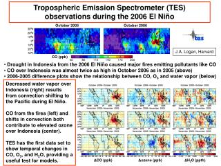 Tropospheric Emission Spectrometer (TES) observations during the 2006 El Niño