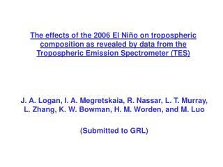 Effects of the 1997 El Nino (Chandra et al., GRL, 1998)