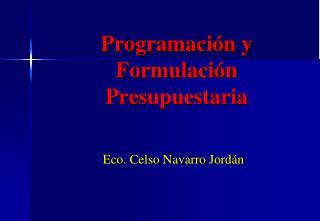 Programación y Formulación Presupuestaria