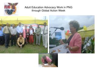 Adult Education Advocacy Work in PNG through Global Action Week
