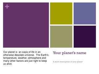 Your planet's name