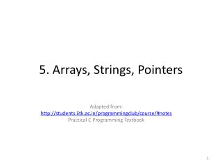 5. Arrays, Strings, Pointers