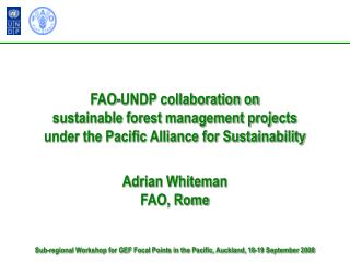 Adrian Whiteman FAO, Rome