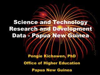 Science and Technology Research and Development Data - Papua New Guinea