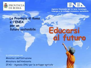 in collaborazione con Ministeri dell'Istruzione  Ministero dell'Ambiente