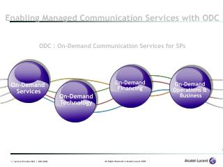 ODC : On-Demand Communication Services for SPs