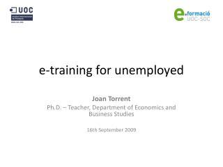 e-training for unemployed
