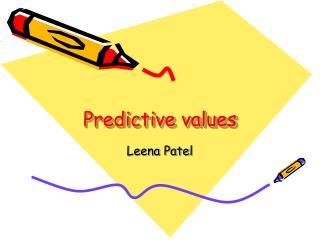 Predictive values