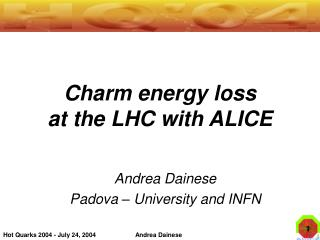 Charm energy loss  at the LHC with ALICE