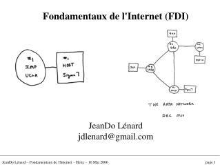 Fondamentaux de l'Internet (FDI) JeanDo Lénard jdlenard@gmail