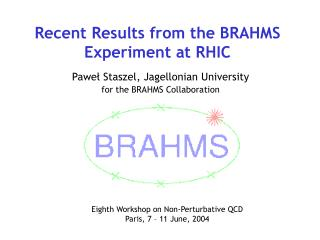 Recent Results from the BRAHMS Experiment at RHIC