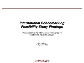 International Benchmarking Feasibility Study Findings