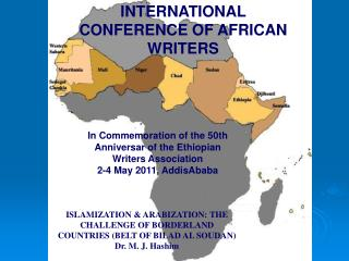 INTERNATIONAL CONFERENCE OF AFRICAN WRITERS