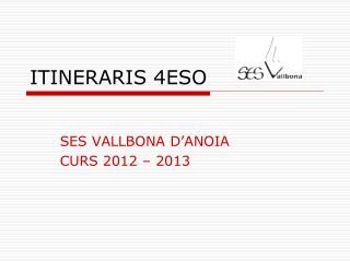 ITINERARIS 4ESO