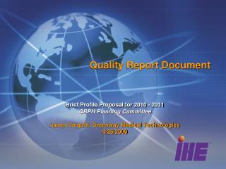 Quality Report Document