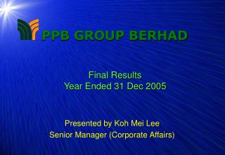 Final Results Year Ended 31 Dec 2005