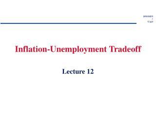 Inflation-Unemployment Tradeoff
