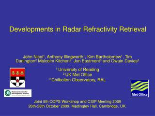 Developments in Radar Refractivity Retrieval