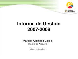Informe de Gestión   2007-2008