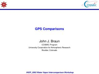 GPS Comparisons