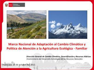 Direcci�n General de Cambio Clim�tico, Desertificaci�n y Recursos H�dricos