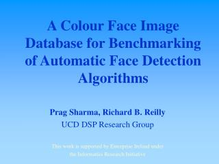 A Colour Face Image Database for Benchmarking of Automatic Face Detection Algorithms