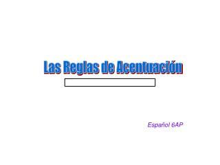 Español 6AP