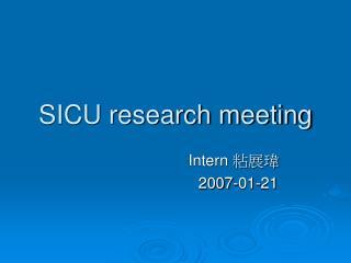 SICU research meeting