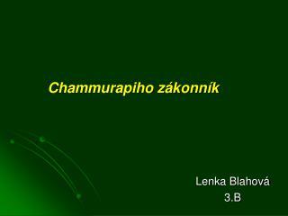 Chammurapiho zákonník