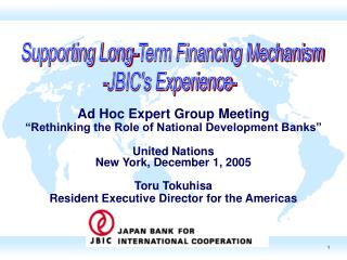 "Ad Hoc Expert Group Meeting ""Rethinking the Role of National Development Banks"" United Nations"