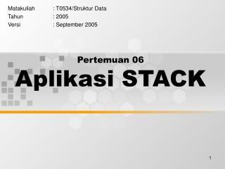 Pertemuan 06 Aplikasi STACK