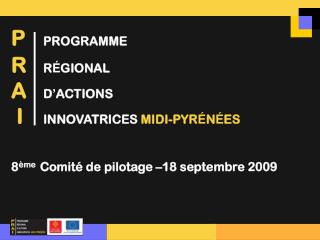 8 ème   Comité de pilotage –18 septembre 2009