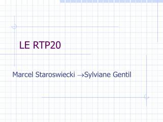 LE RTP20