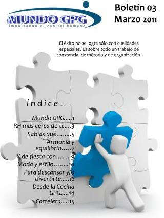 Boletín 03 Marzo  2011