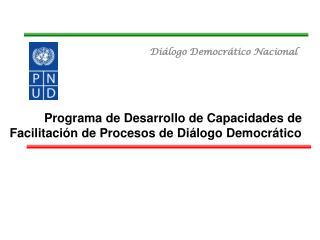 Diálogo Democrático Nacional