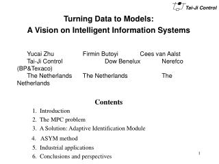 Turning Data to Models: A Vision on Intelligent Information Systems
