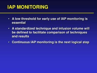 IAP MONITORING