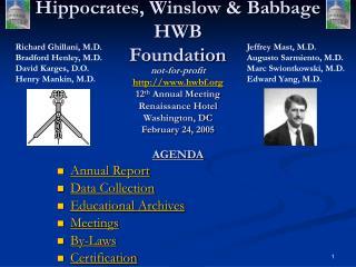 Hippocrates, Winslow & Babbage HWB  Foundation
